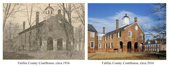 Fairfax Courthouse 100 years